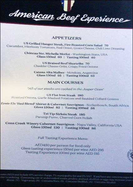 "A special ""American Beef Experience"" menu at Prime 68 included several U.S. beef appetizers and main dishes"