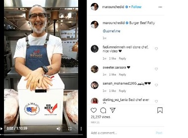 Popular Chef Promotes U.S. Beef to Middle East Instagrammers