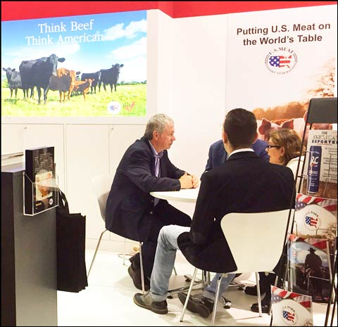 Face-to-face meetings with traders promoted the quality and availability of U.S. beef and pork