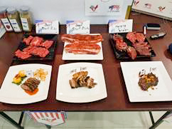 Dishes prepared with U.S. red meat were shared with participating chefs to give them examples of their quality and flavor