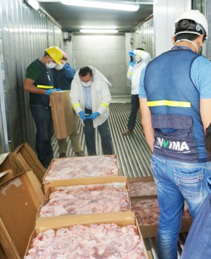 The workshops in Colombia included a tour of facilities and a look at how U.S. meat is inspected as it enters the country