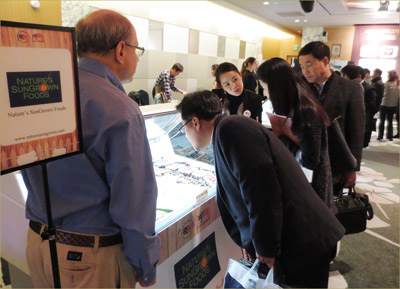 Attendees got an up-close look at a wide range of processed pork products