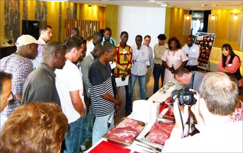 Chefs from Senegal are introduced to alternative U.S. beef cuts