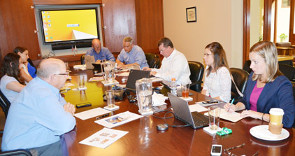 Representatives from the National Pork Board and  National Pork Producers Council met at USMEF headquarters in Denver for an International Trade SciTech meeting