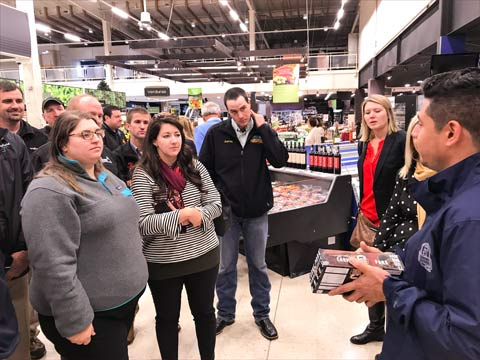 The Pork Leadership Institute team explored U.S. pork at retail during the training session held in Colombia