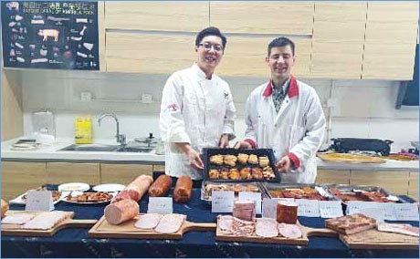 Along with hams, bacon and sausages, the USMEF training session at Pengcheng Foods included a look at marinated U.S. pork products