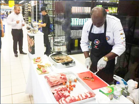 Samples of U.S. beef were handed out at retail supermarket chains throughout Dubai and Qatar as part of USMEF's promotional campaign