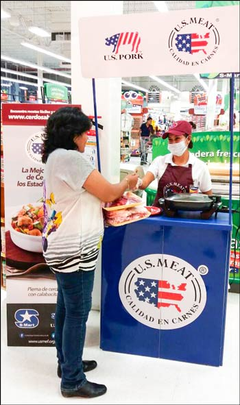 The U.S. pork promotion was conducted in 60 S-Mart supermarkets in the states of Chihuahua and Nuevo Leon
