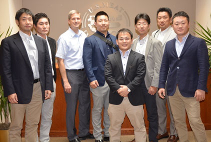 Representatives of Japanese importer Starzen visit USMEF's Denver headquarters