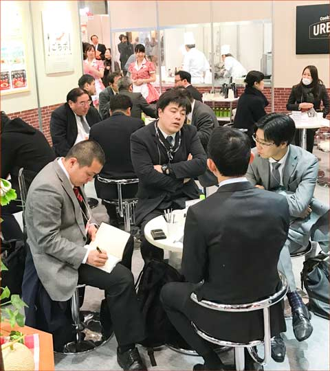 Japanese retail companies came by the USMEF booth to discuss U.S. beef and pork products