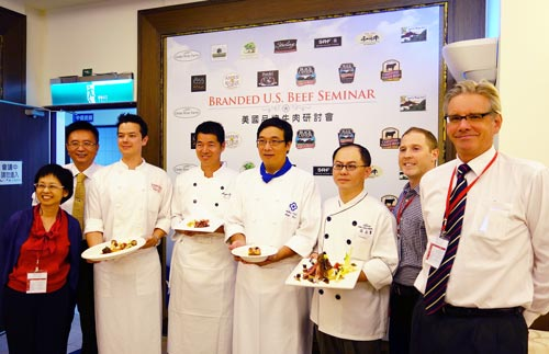 Chefs treated seminar attendees to several innovative dishes that combined U.S. branded beef products with local ingredients