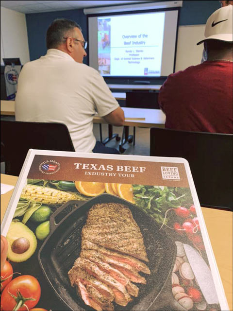 The team was given an overview of the U.S. beef industry at Texas A&M University Kingsville