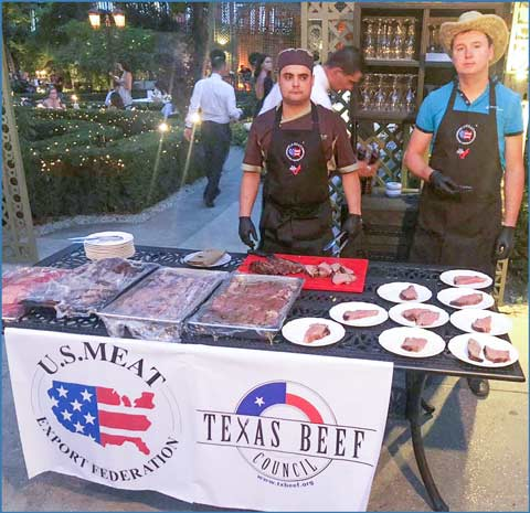 Customers at two restaurants in Odessa, Ukraine, sampled various U.S. beef dishes during the Texas Beef Festival organized by USMEF and the Texas Beef Council