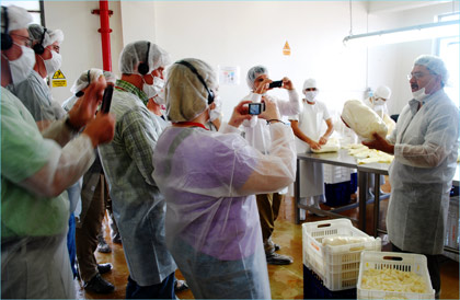 Processing, packaging and distribution of U.S. beef tripe is explained by Carlos Montero, commercial manager for Halema