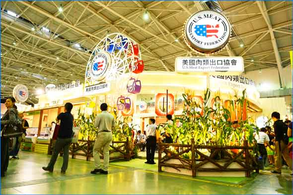 The USMEF booth was featured on the front page of the China Post
