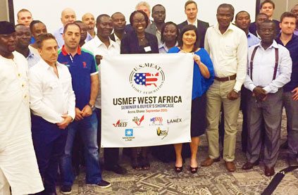 Participants at the USMEF Buyers Showcase and Seminar in Accra, Ghana, pose for a photograph following the event, which highlighted U.S. beef in the fast-growing Sub-Saharan Africa region