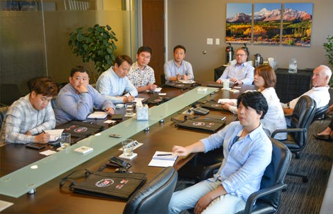 At USMEF headquarters, the team was presented an overview of the U.S. red meat industry, along with an update on production and exports