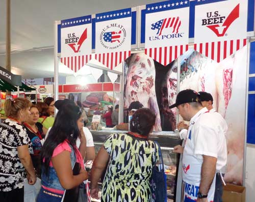 "The ""U.S. Meats Corner"" drew more than 4,000 visitors over two days"