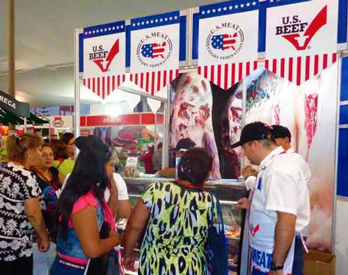 "The ""U.S. Beef Corner"" drew more than 4,000 visitors over two days"