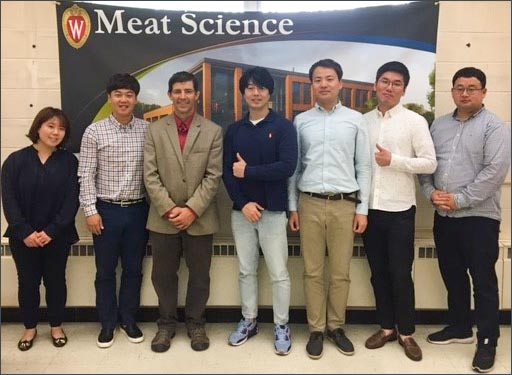 The team attended an educational meat training session at the University of Wisconsin