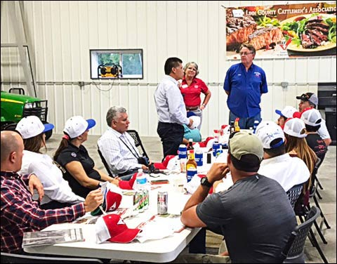 Following the Global Processing Seminar at the University of Wisconsin, a team of processors visited the Horning Farm in Marion, Iowa, to get a closer look at U.S. beef production