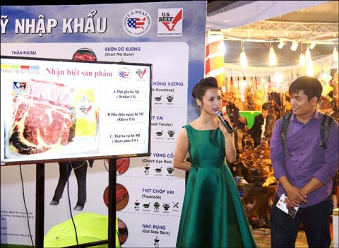 The event featured quizzes and games tied to U.S. beef in order to educate Vietnamese consumers