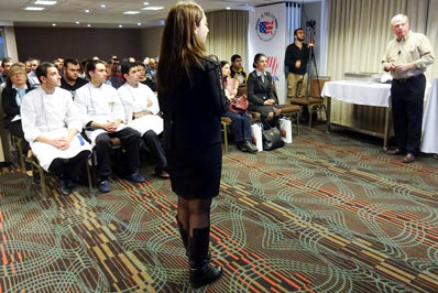 Armenian chefs, importers and processors get an overview of the U.S. pork industry at the U.S. pork seminar in Yerevan