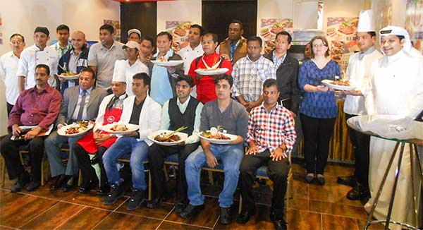 Participants were given samples of U.S. beef and new menu ideas at the workshop