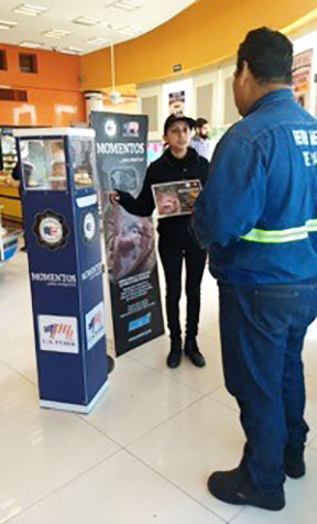 "A USMEF promotion called ""Pork to the Rescue"" was conducted in 79 retail stores in Mexico, offering consumers information about U.S. pork's quality and value"