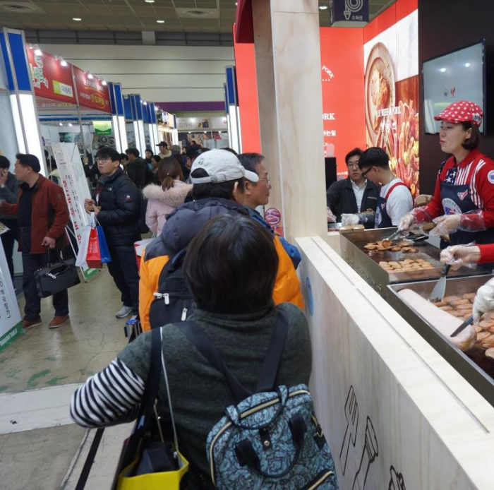 The USMEF booth promoted U.S. pork, processed pork items and beef during the show, which attracted more than 20,000 visitors