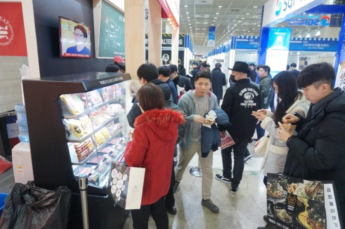 U.S. pork, processed pork items and beef were on display and available for sampling during the show, allowing people in the food franchise business to learn about new U.S. products available in the Korean market