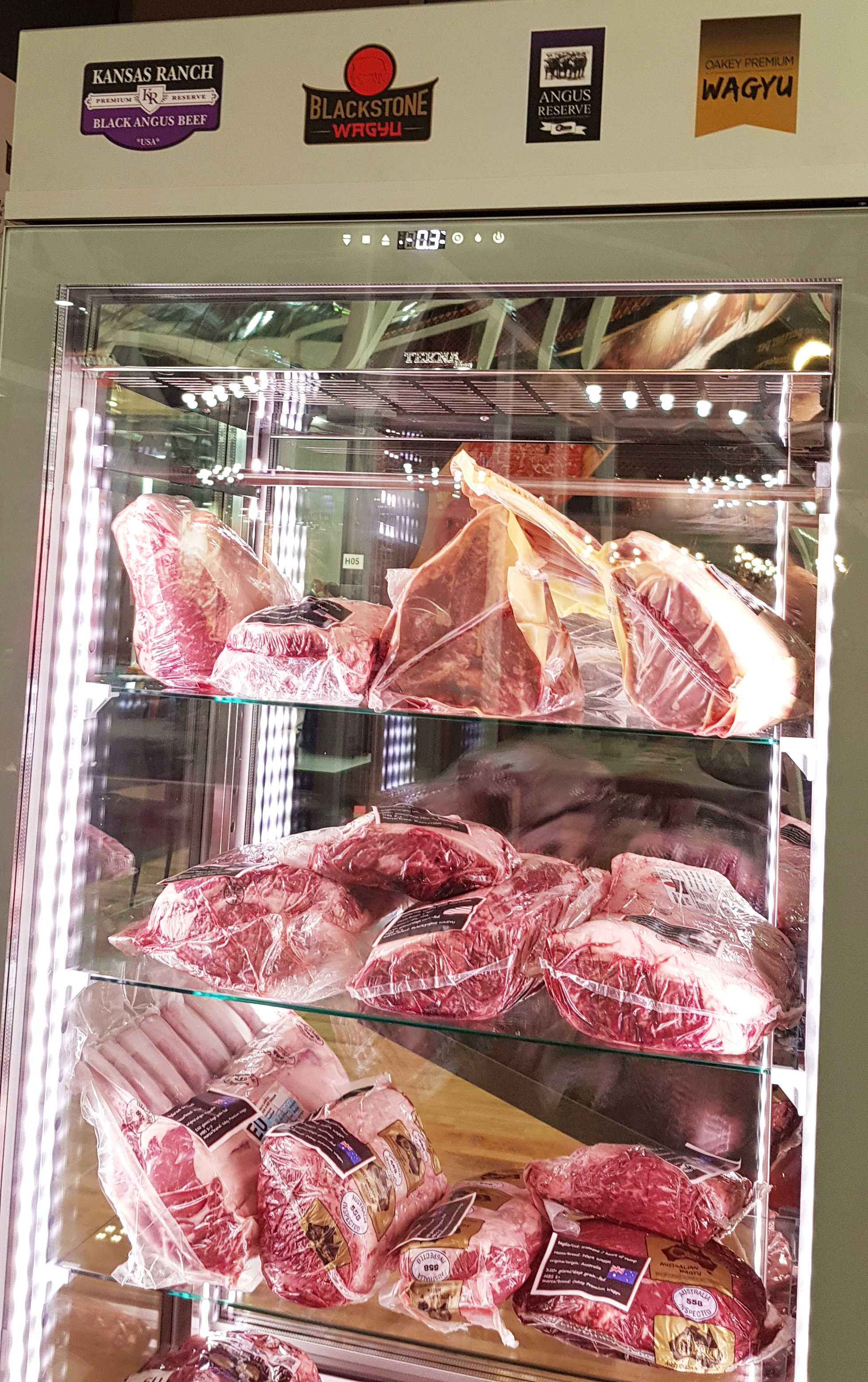 Various cuts of U.S. beef were on display for visitors to the TUTTOFOOD show in Milan, Italy