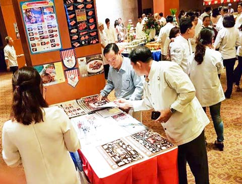 USMEF distributed educational information about U.S. pork and beef during the Ho Chi Minh City event